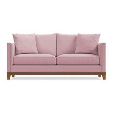La Brea Studded Sofa, Blush Velvet