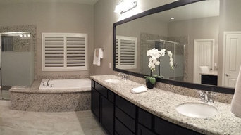 Las Vegas Master Bathroom Mirror and Vanity Mirror (Before and After)