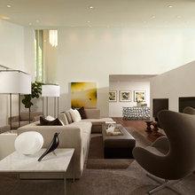 Sleek Open-Plan Design for a 'Brady Bunch Modern' House