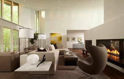 Sleek Open-Plan Design for a 'Brady Bunch Modern' House
