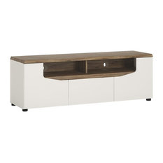 Toledo 2-Door TV Unit, White, Small