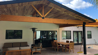 Los Angeles Open patio cover and vaulted ceiling patio cover