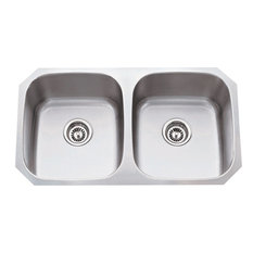 Stainless Steel Undermount Kitchen Sink with Two Equal Bowls