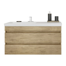 "DP Wall Bath Vanity Cabinet Set 39.4"" Single Sink With Laminated PL Wood Finish"