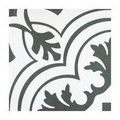"""SomerTile 7.75""""x7.75"""" Twenties Ceramic Floor and Wall Tile, Vintage"""