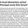 Interesting post from a Principal