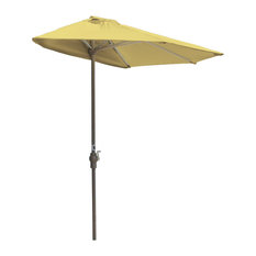 off-The-Wall Brella Half Umbrella, Yellow, 7.5', Olefin Fabric