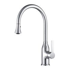 Everton Kitchen Faucet Gooseneck Single Lever Mixer, Chrome
