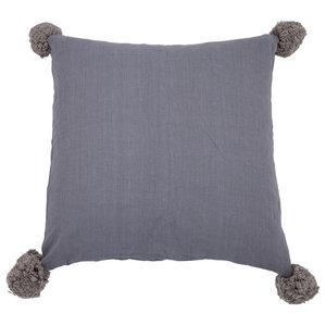 Pom Pom Cushion Cover, Graphite, Medium
