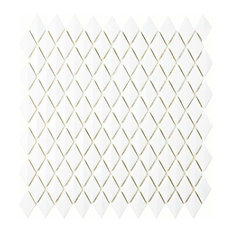 Expresiones Glass Mosaic Floor and Wall Tile, Bevel Diamond