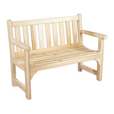 Awesome Deals At Lower Prices English Garden Settee Natural 47 By Atlanta  Teak Furniture   Outdoor Benches Furniture In A Wide Variety Of Designs.