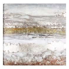 "Abstract Winter Landsc ape  Acrylic touch-up, Fresh Canvas Wall Art , 32""x32"""
