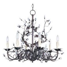"Maxim 2851 Elegante 26"" 6-Light Chandelier, Oil Rubbed Bronze"