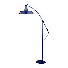 "12"" Oldage LED Industrial Floor Lamp, Cobalt Blue"