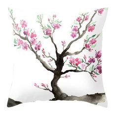 "Decorative Pillow Cover, Sakura Tree, Woodland Decor, 20""x20"""