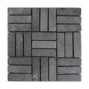 "12""x12"" Gray Weave Stone Mosaic Tile"