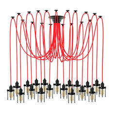 Red And Black Ceiling Light