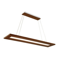 Tablet LED Linear Pendant 3000K, Dark Walnut