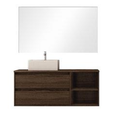 Soul 2-Piece Bathroom Vanity Unit, Britannia Finish, 80 cm