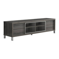 Offex Entertainment Room TV Stand 70-inchL Euro Style Dark Taupe