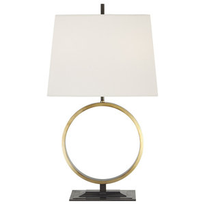 Thomas O'Brien Simone Medium Table Lamp Bronze With Antique Brass