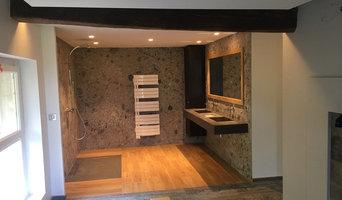 salle de bain  carreaux grands formats