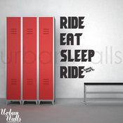 'Ride Eat Sleep Ride Some More' Decal