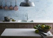 What is the name of the backsplash here?  It looks like blue marble?