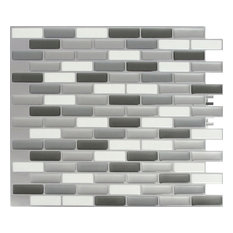 Peel & Impress Oblong Tile, Glass Gray Oblong, 11x9.25, Oblong