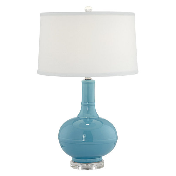 Russe 1 Light Table Lamp in Aqua Blue