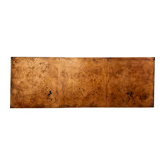Smoothed Aged Copper Panel Queen Headboard