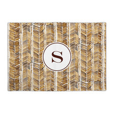 Fabric Placemat Herringbone Single Initial, Letter C