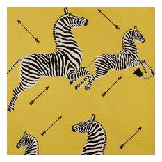 "Zebras Fabric, Yellow, 55.5""x36"""