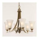 Drummond 6 Light Antique Brass Chandelier