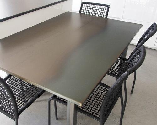 plan de travail de cuisine en acier brut. Black Bedroom Furniture Sets. Home Design Ideas