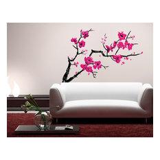 "Cherry Blossom Ii Wall Decal Print, 47""x28"""