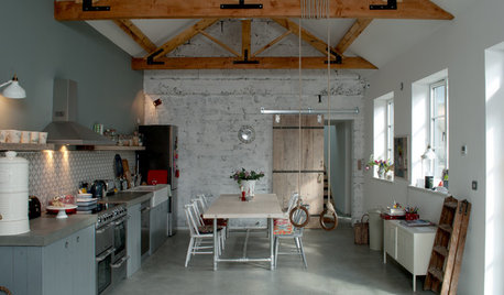 An Industrial Workshop is Recycled as a Cosy Family Home