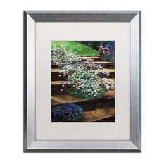 "David Lloyd Glover 'Dainty Daisies' Art, Silver Frame, 16""x20"", White Matte"