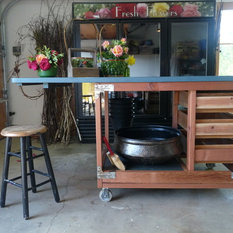 Farmhouse Office Carts And Stands