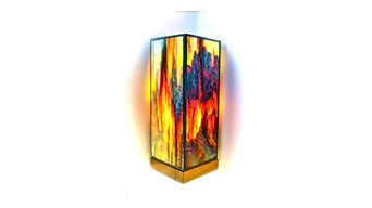 Stained Glass contemporary hand crafted lamps