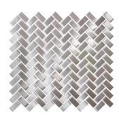 """12""""x12"""" Subway Stainless Steel Tile, Full Sheet"""
