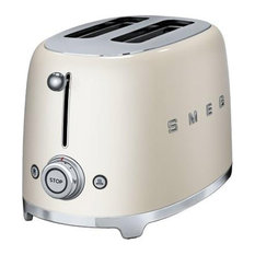 Smeg Retro 50's 2 Slice Toaster, Cream