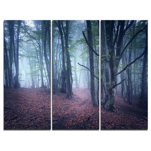 """Mysterious Fairytale Wood"" Photo Canvas Print, 3 Panels, 36""x28"""