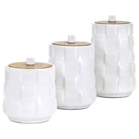 Gamil Canisters, Set of 3, White