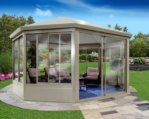 Gazebo All Aluminum And Glass Windows And Doors
