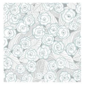 Oopsie Daisy Grey Peel & Stick Wallpaper Swatch