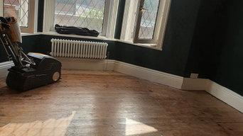 Victorian era pine wooden flooring restored