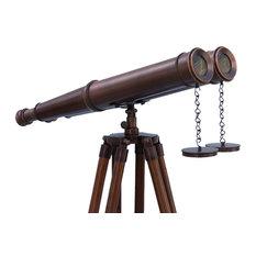 Floor Standing Bronzed Binoculars 62'', Vintage Binoculars, Nautical Theme