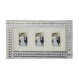 Mirrored Bar and Stud Silver Picture Frame, 3 Image