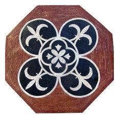 "Octagon Fleur de Lis Mosaic - Iris, 31"" X 31"""